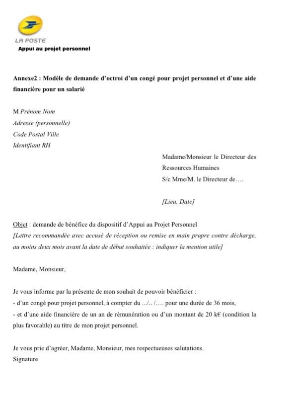 modele lettre demande reintegration